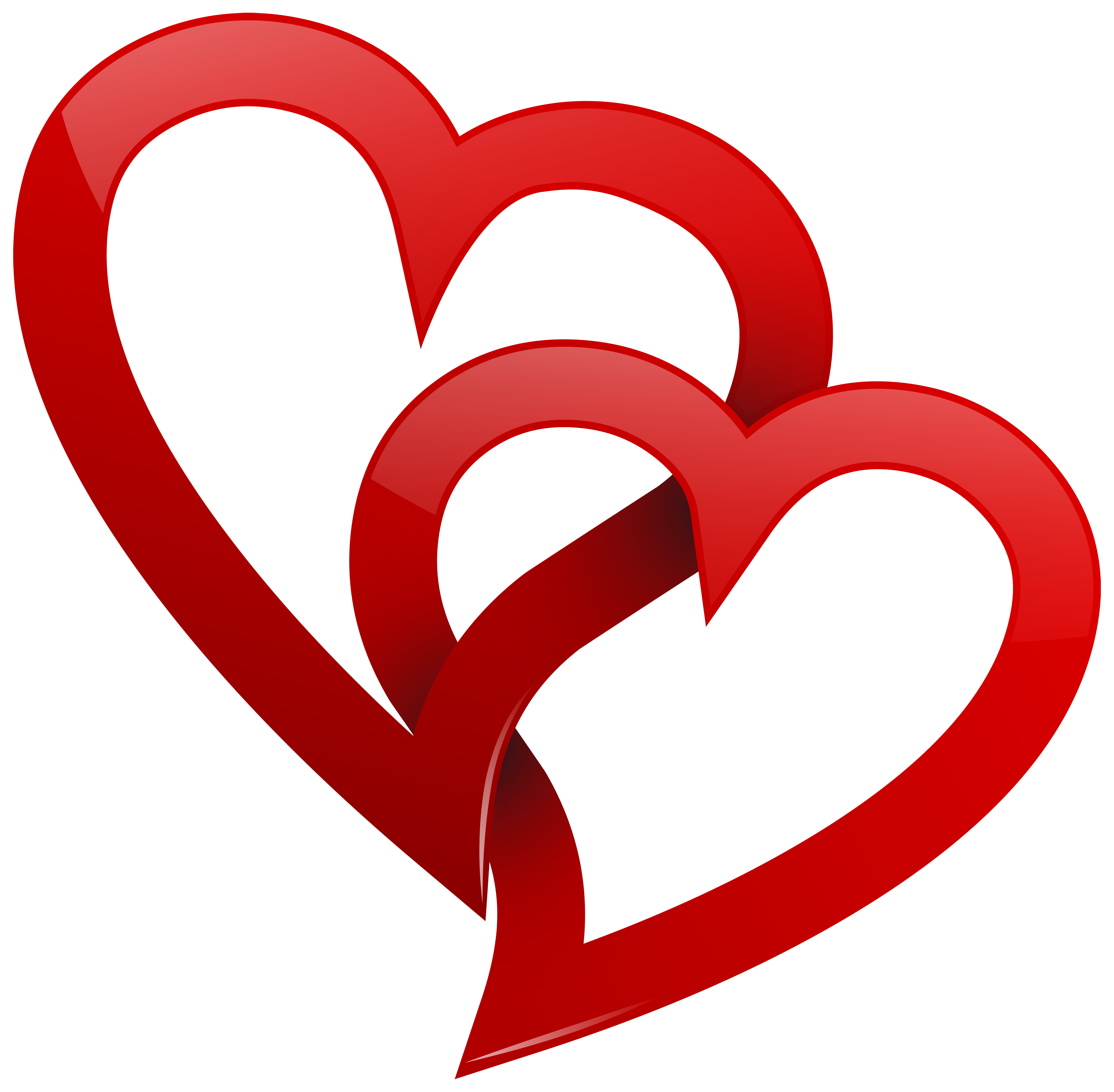 Hearts .png. Two red png clipart