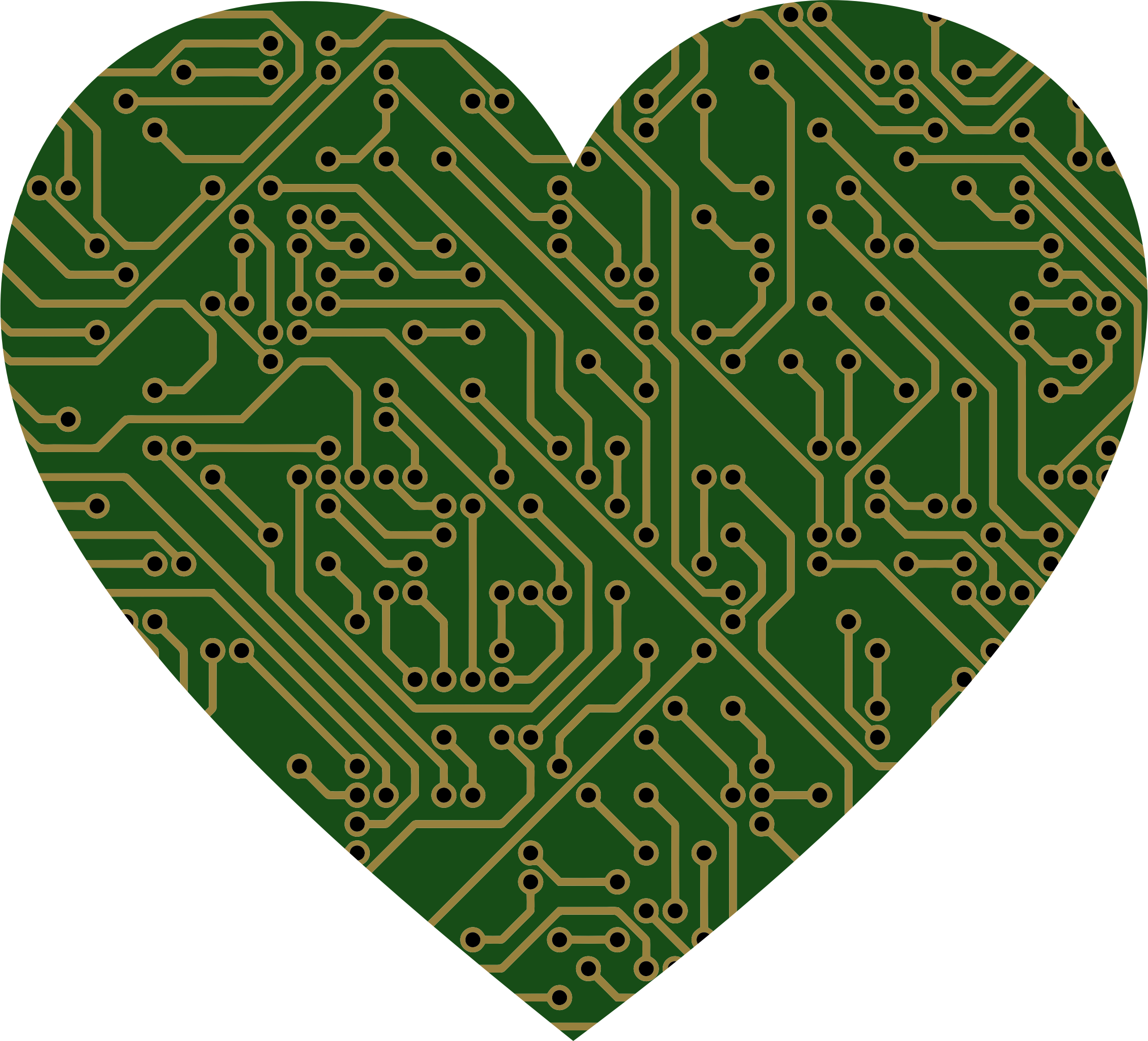 Circuit heart png. Printed board icons free