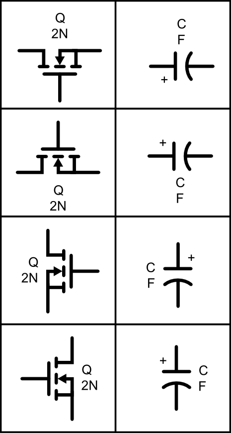 Circuits vector svg. Circuit symbol library arty