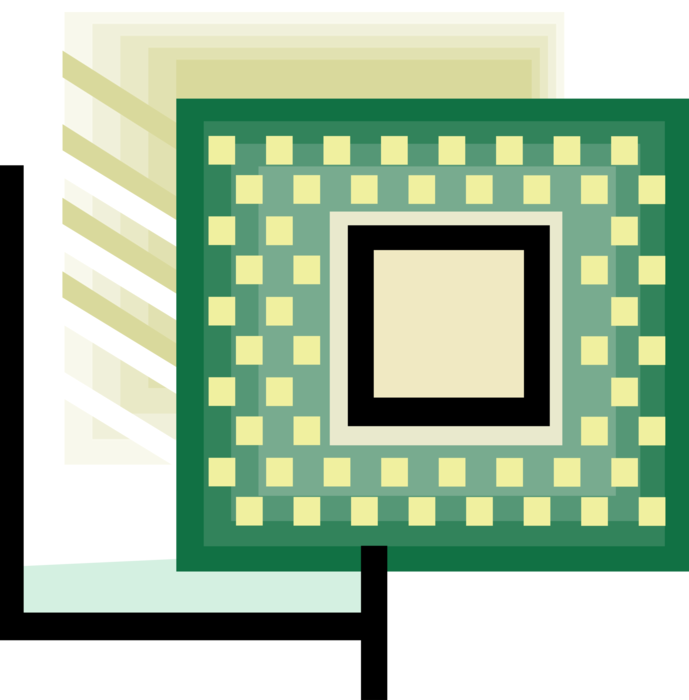 Circuits vector microchip. Computer integrated circuit image