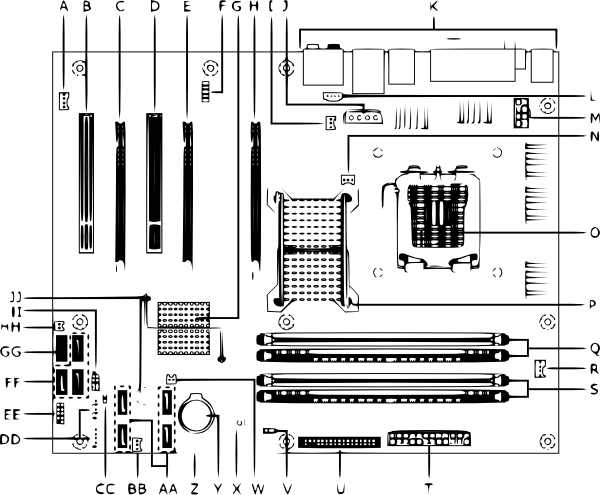 Circuits vector motherboard. Clip art at clker