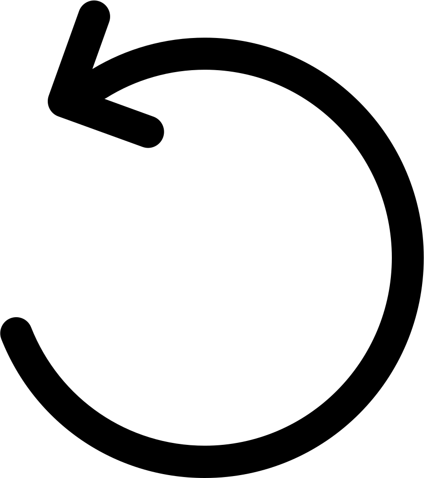 Arc arrow png. Counterclockwise circular svg icon