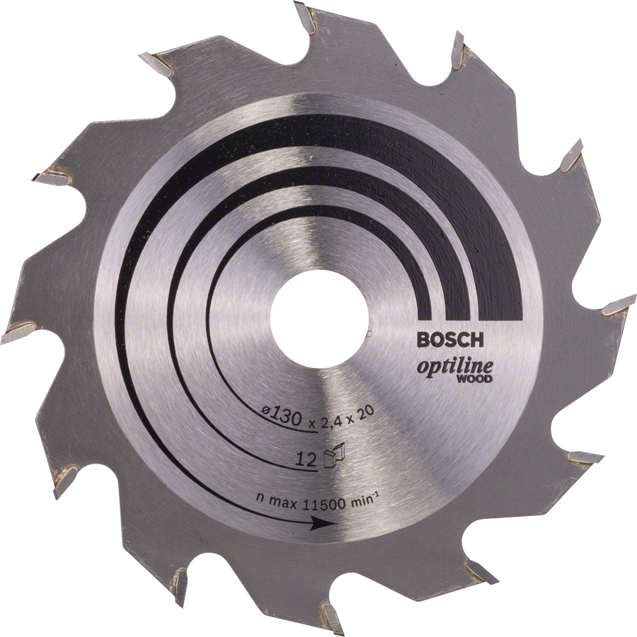 Optiline wood blades bosch. Circular saw blade black and white png vector royalty free library