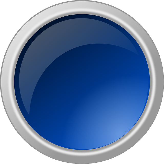 Circulo 3d png. Blue button glossy round