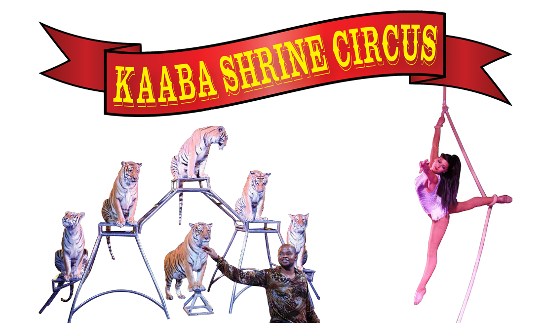 Circus banner png. Kaaba shriners for the