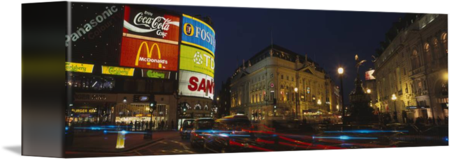 Circus billboard in png. Piccadilly london england by
