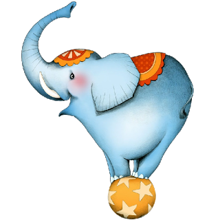 Ball clip circus. Free elephant cliparts download