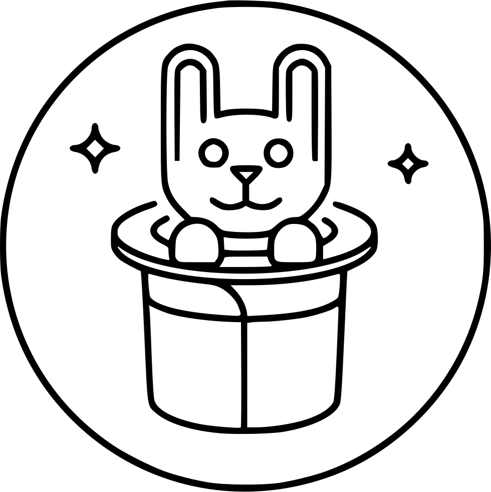 Circus svg animal. Magic rabbit hat png