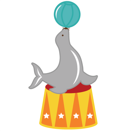 Circus svg. Seal files for scrapbooking