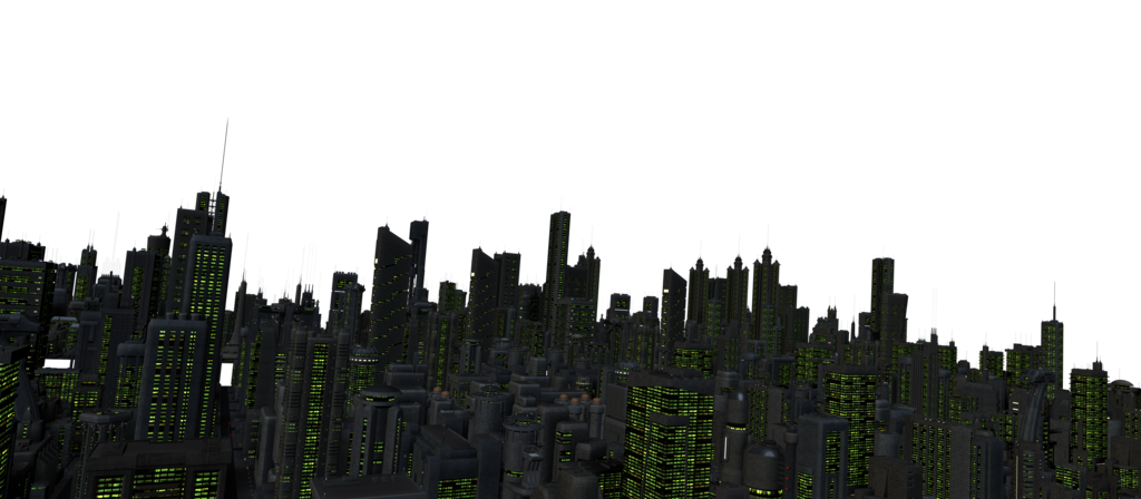 City background png. Future night stock by