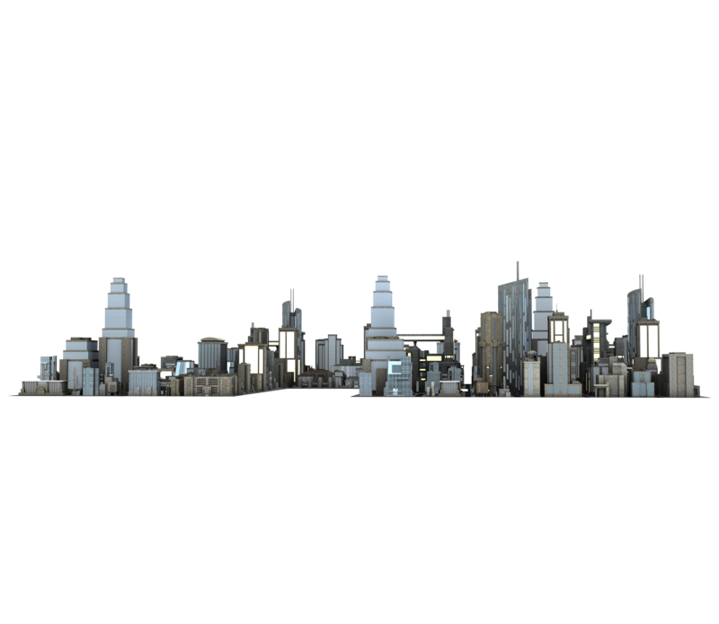 Buildings transparent. Large city png cut