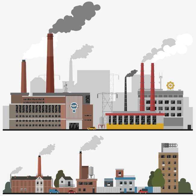 City clipart industrial city. Flat buildings house building