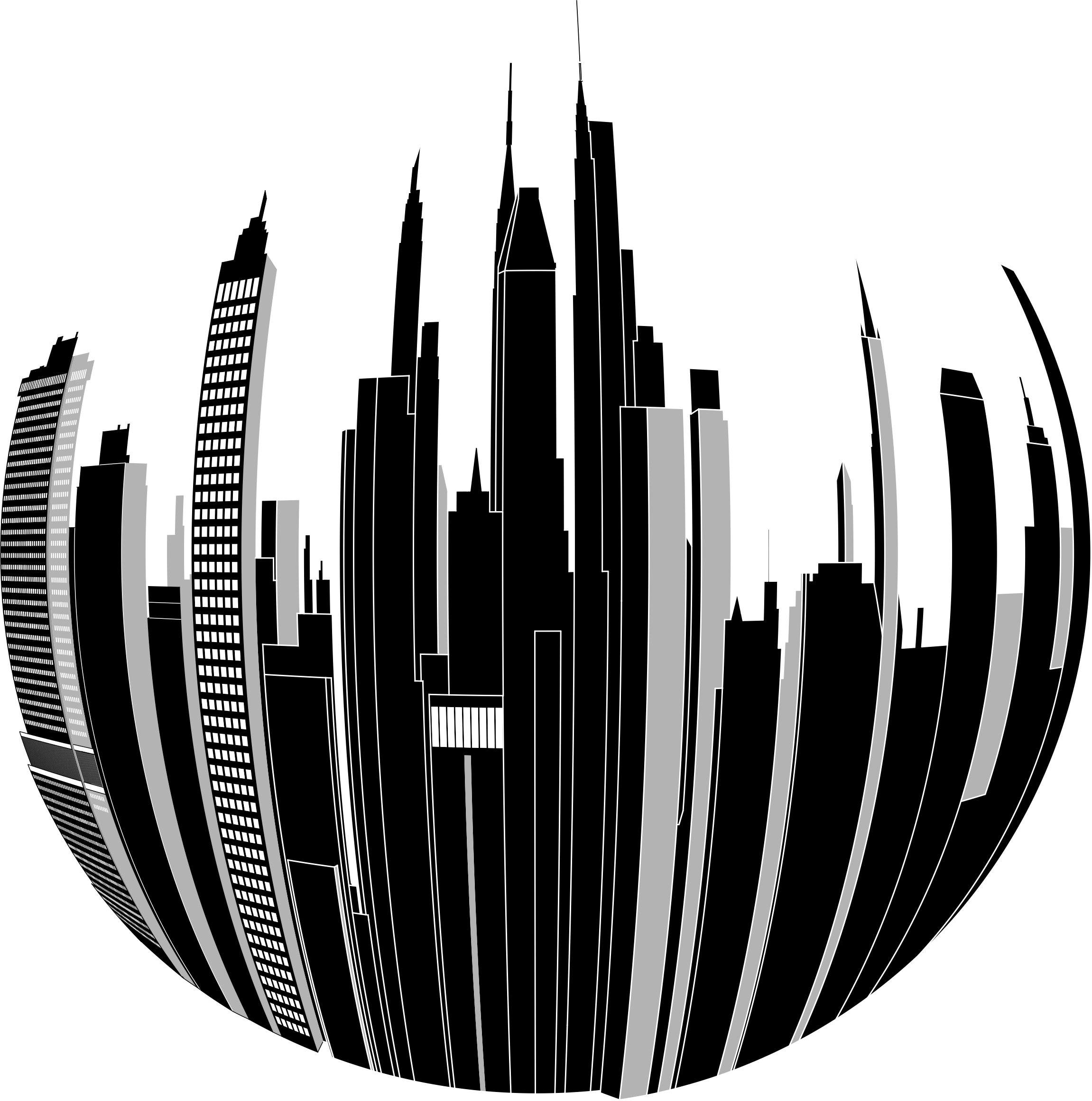 City clipart png. Distorted skyline big image