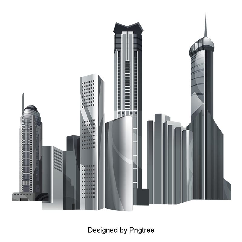 Creative vector material buildings. City building png vector library stock