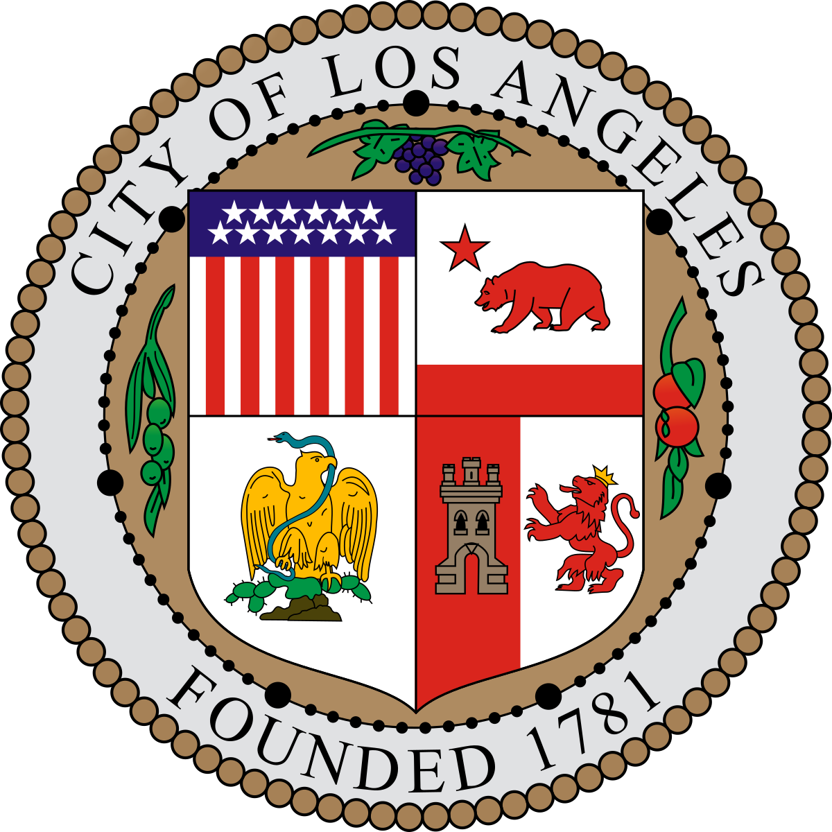 City of los angeles seal png. The wikipedia