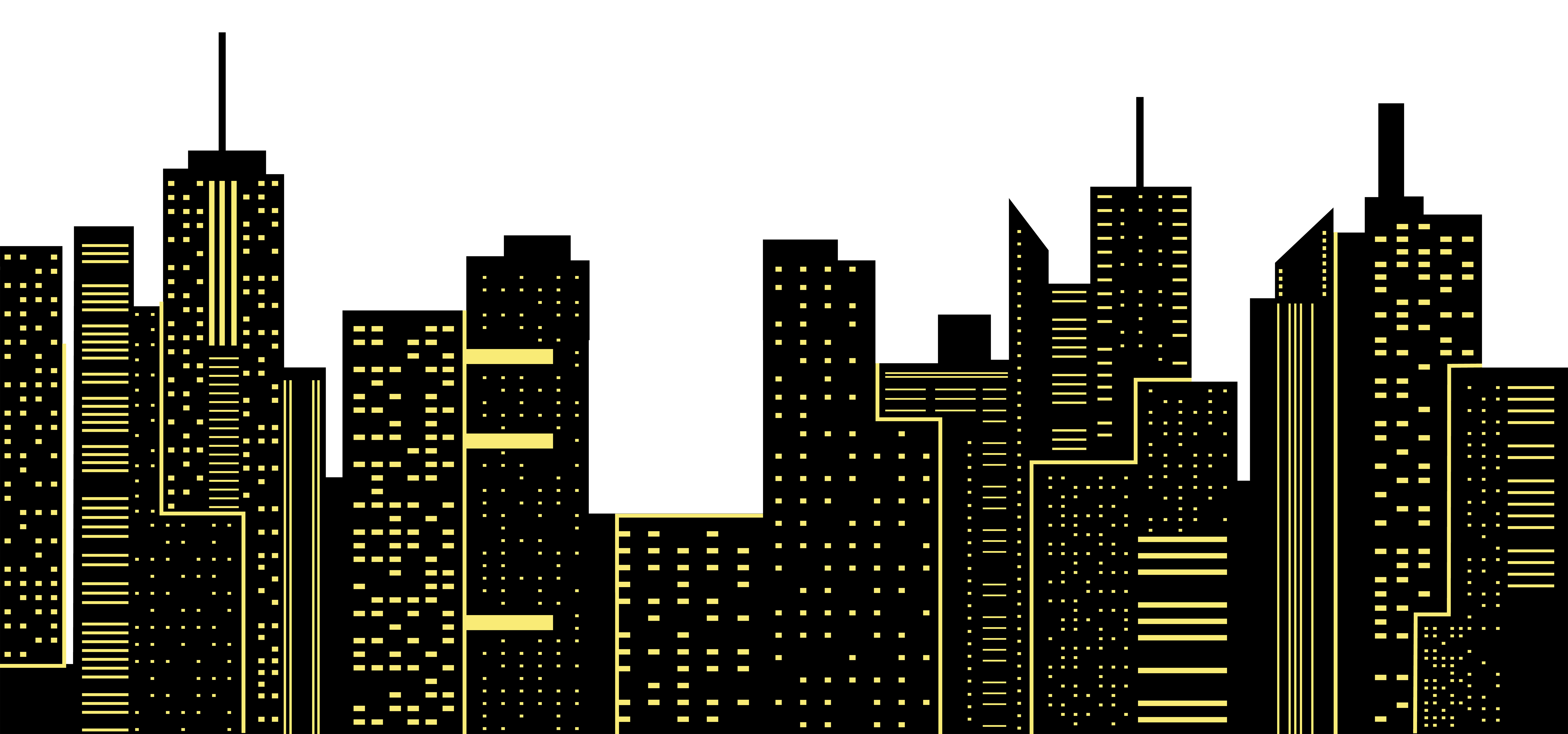 City silhouette png. Night clip art image