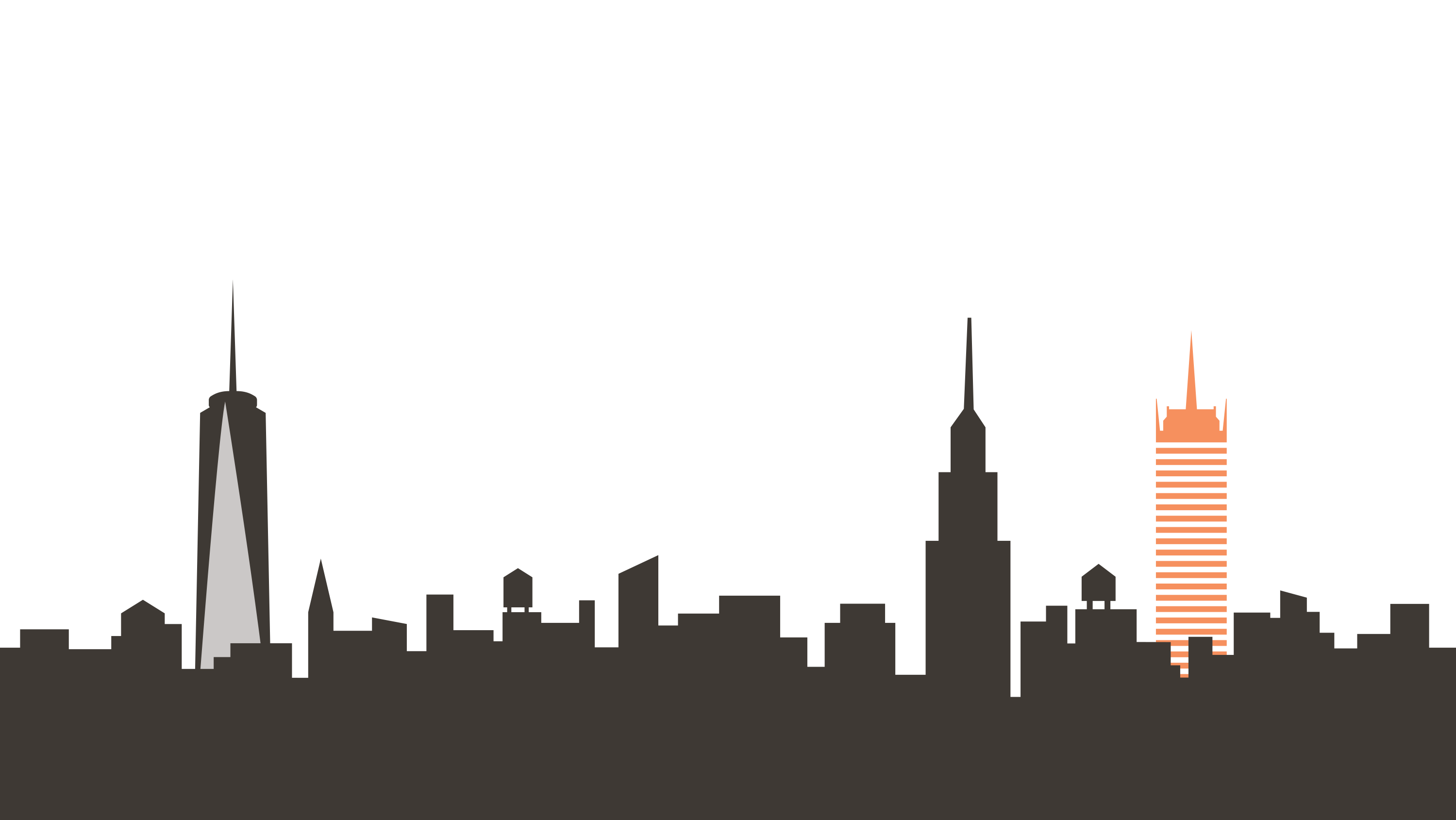 City vector png. New york skyline transparent