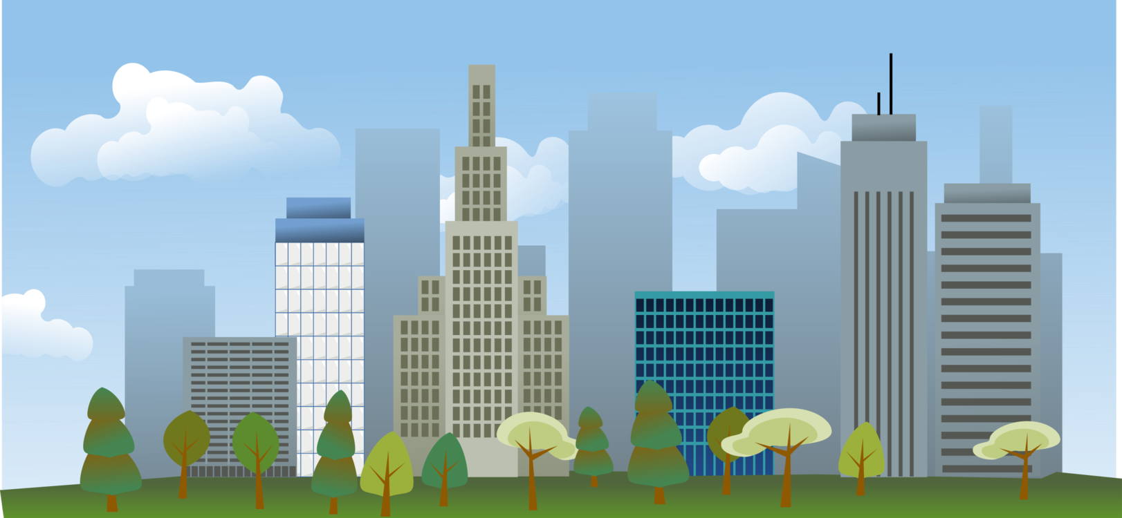 Drawing cityscape. Skyline free commercial clipart