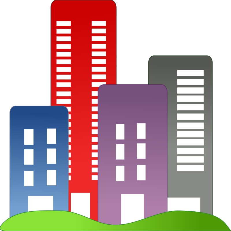Block of flats. Free city buildings clipart