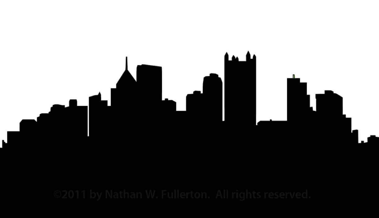 Prespective drawing skyline. City line silhouette at