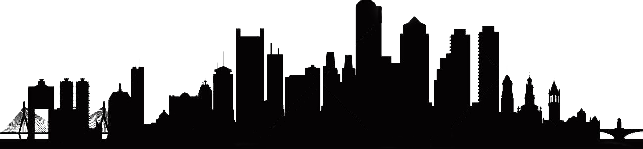 Vector buildings town. Boston city skyline silhouette