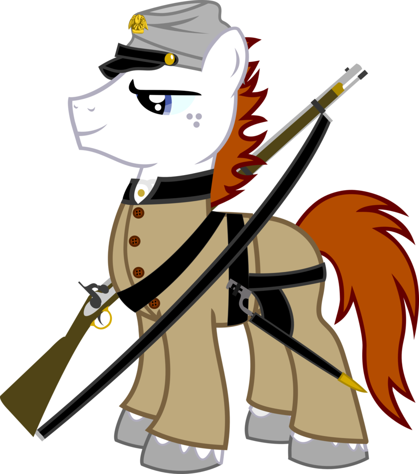 Civil war soldier png. Fleur as by vector