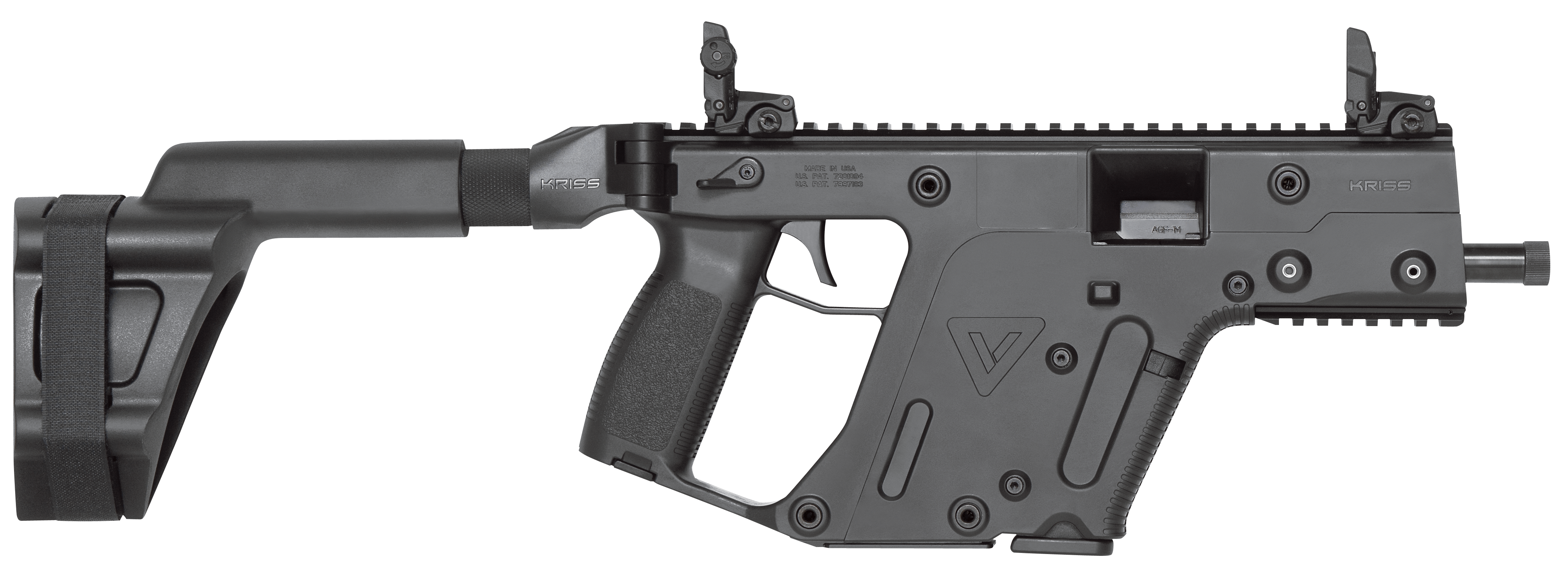 Kriss usa kv psbbl. Vector handguns png transparent stock