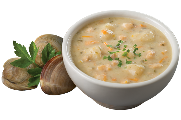 Clam chowder soup png. New england style sea
