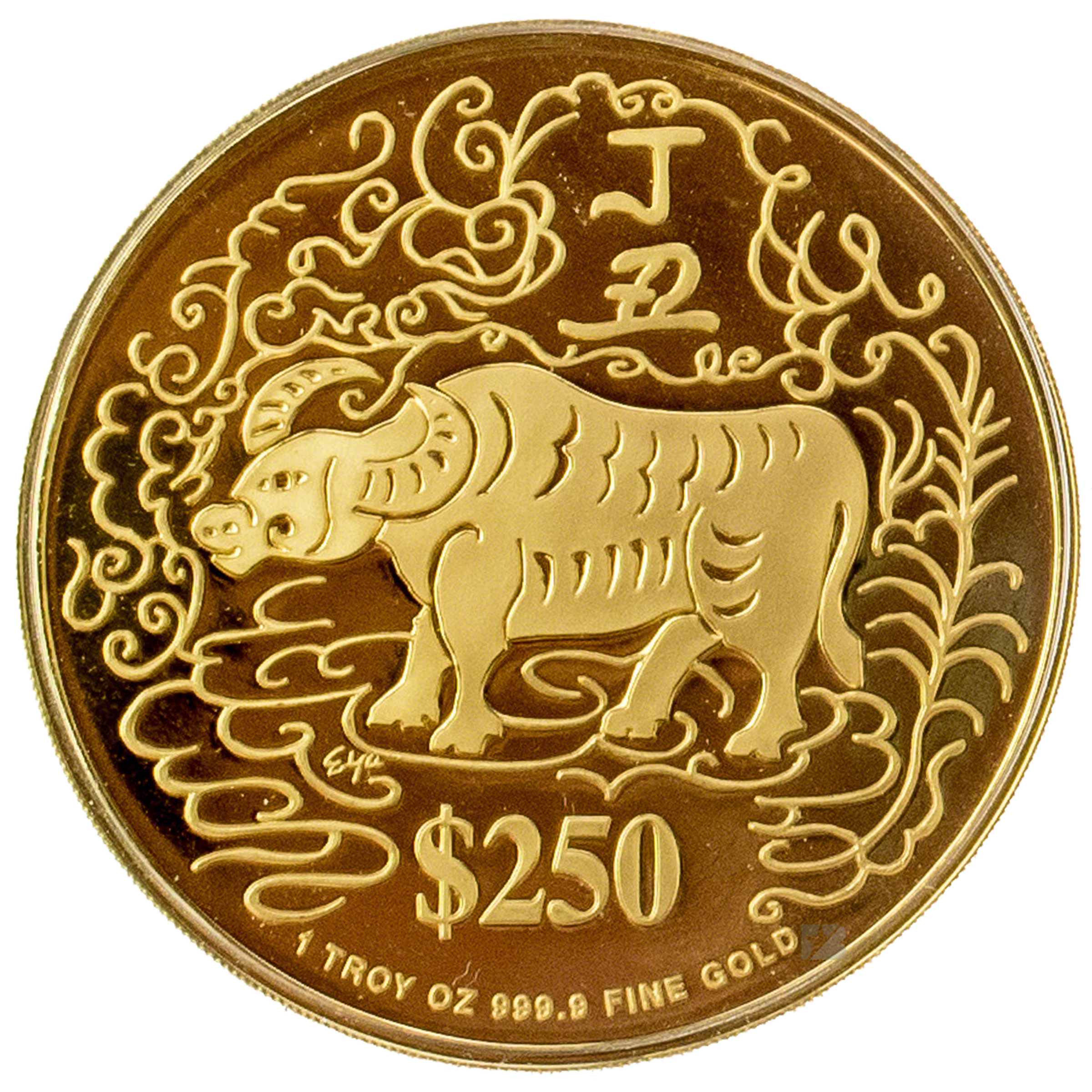 Ox vector chinese new year. Singapore mint gold with