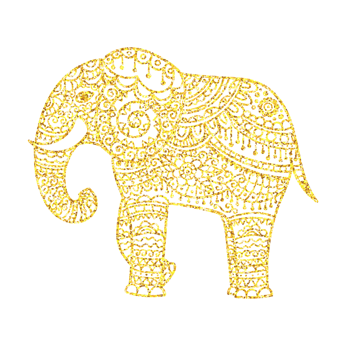 Clam vector golden. Elephant transprent png free