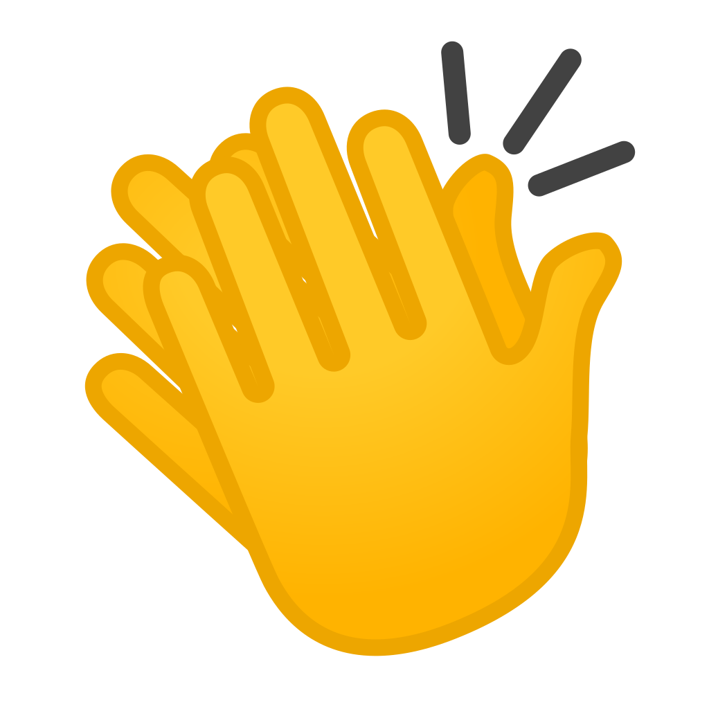 Clap emoji png. Clapping hands icon noto