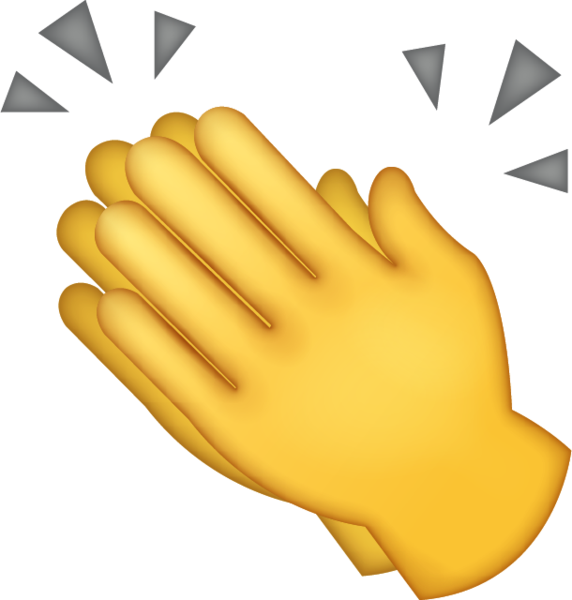 Clap emoji png. Download clapping hands iphone