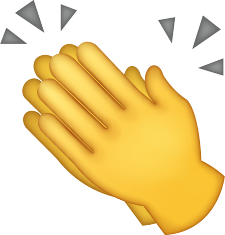 Clapping hands emoji png. Iphone jpg download icon