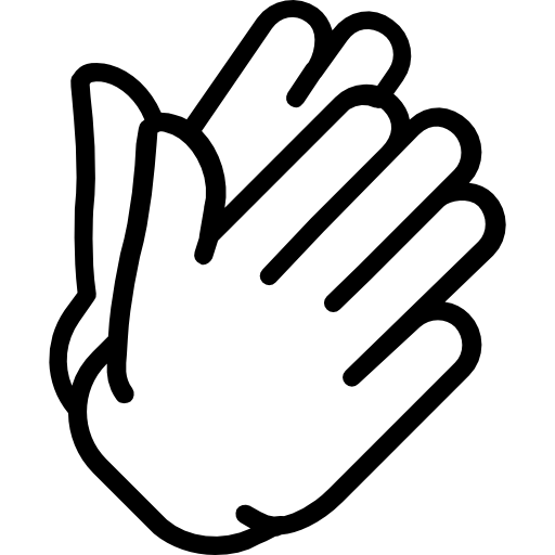 Clapping hands png. Clap icon svg