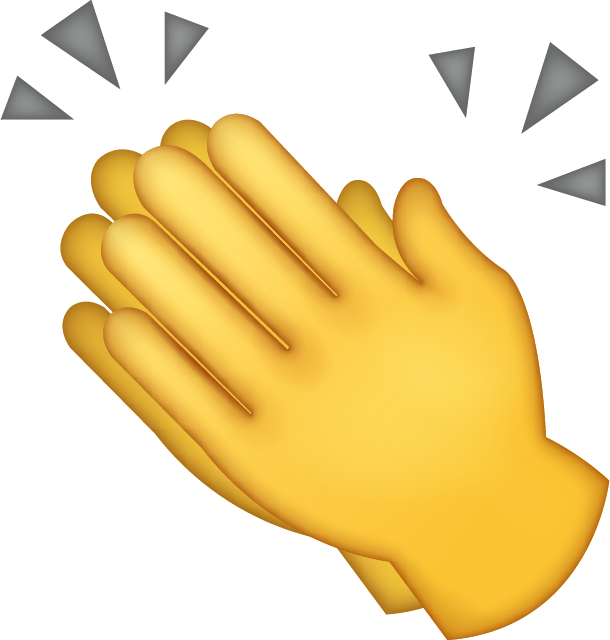 Clapping hands png. Download iphone emoji icon