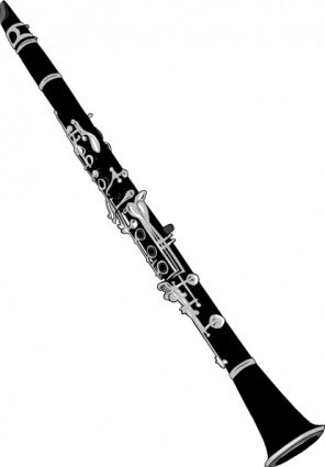 Clarinet clipart silhouette. Free and vector graphics