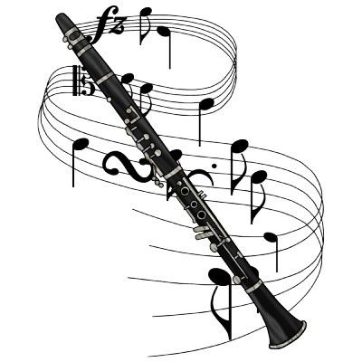 Clarinet clipart watercolor. Best images on