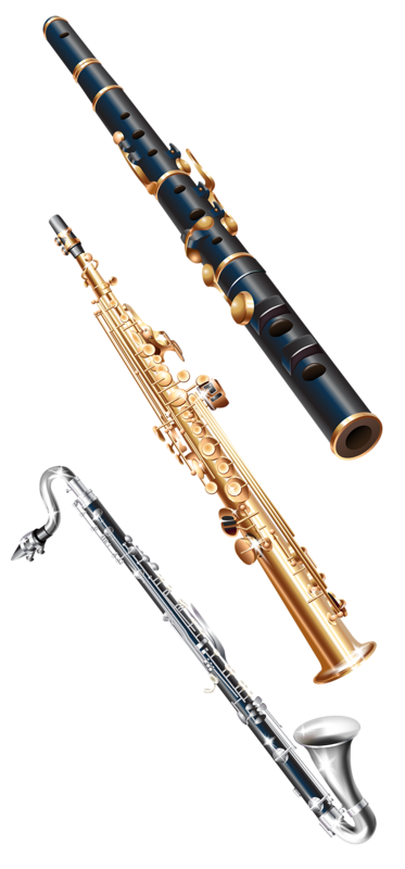 library stock huge. Clarinet vector digital banner library