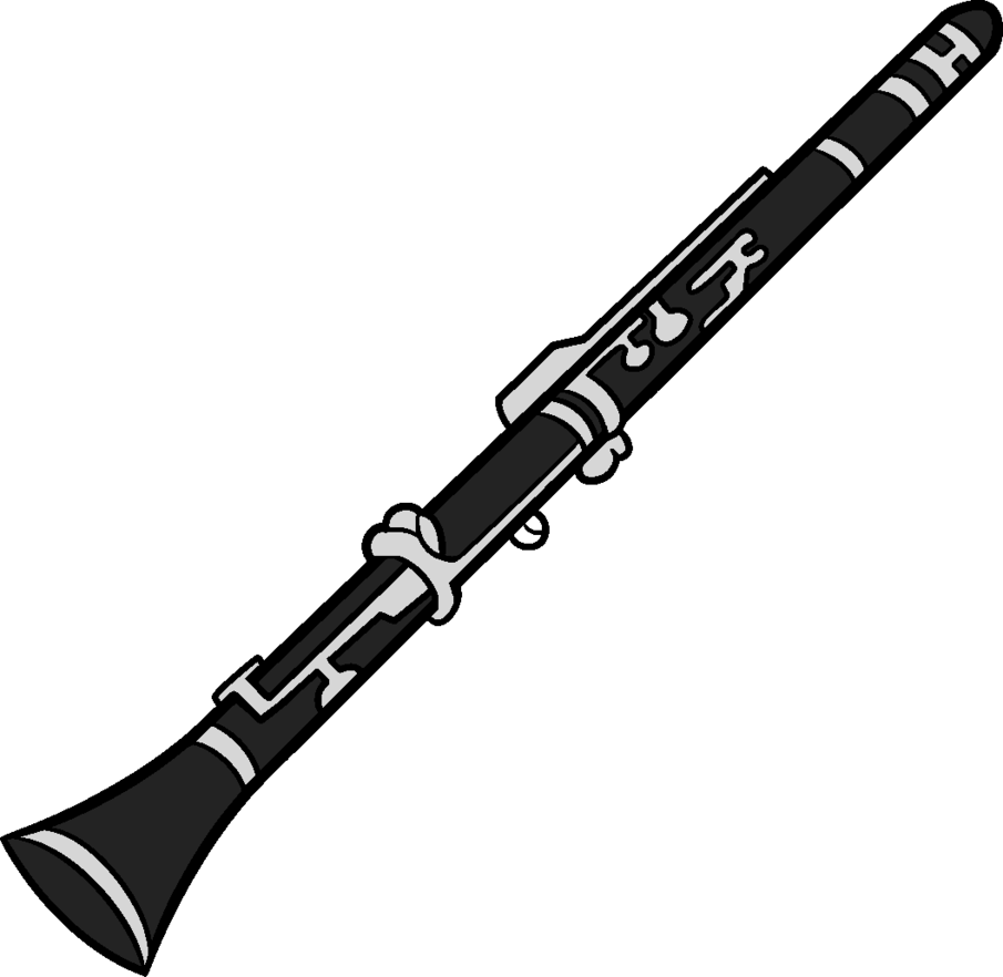 Clarinet vector outline. Kiskae prop by zebuta