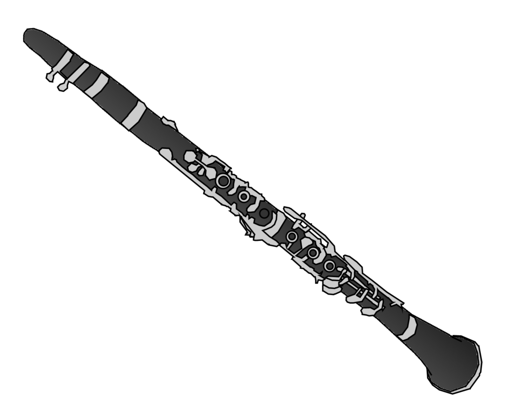 Transparent clarinet svg. Clipart emoji graphics illustrations