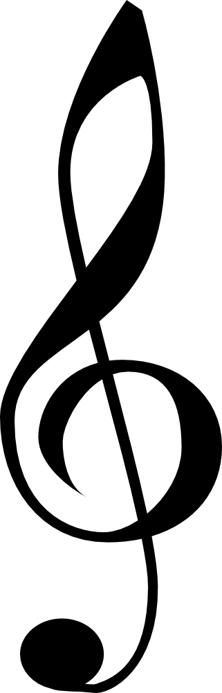Clarinet vector treble clef. Banner transparent library