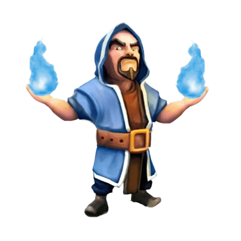 Clash of clans wizard png. Transparent stickpng