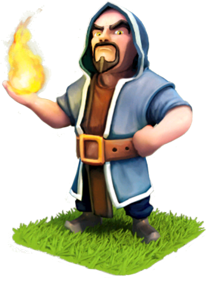 Clash of clans wizard png. Wiki com