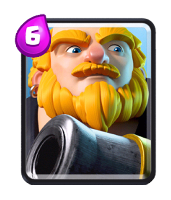 Clash royale cannon png. Giant the common troops