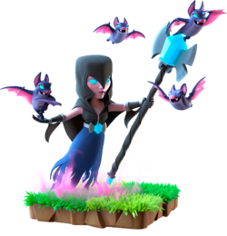 Night image . Clash royale witch png vector download