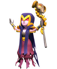 Clash royale witch png. Of clans wiki com