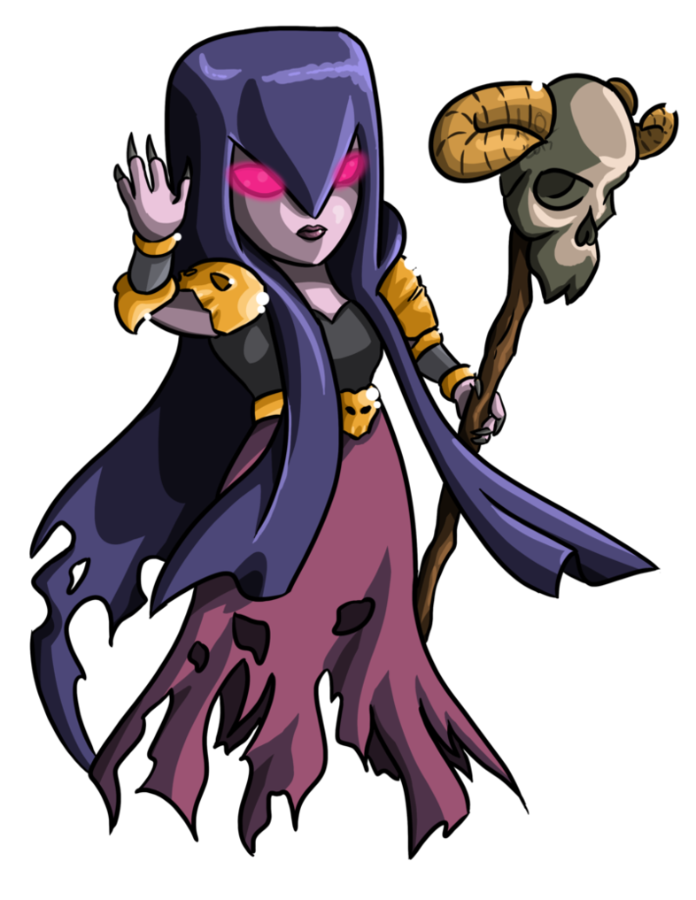 Clash royale witch png. Commission for katie by