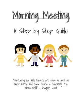 Class clipart class meeting. Morning a step by