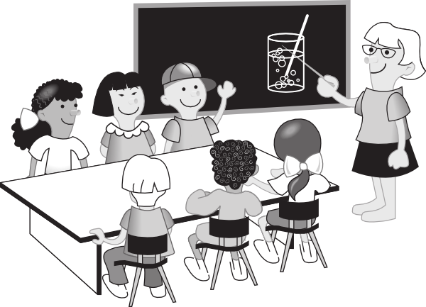 Class drawing classroom. Collection of in