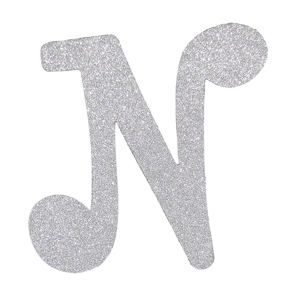 Diamond letters png. Letter n silver pc